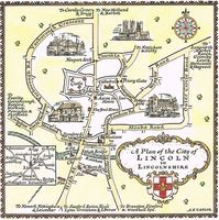 A  Plan Of The City Of Lincoln in Lincolnshire : A. E. Taylor