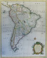 A Map Of South America With All The European Settlements ... : Rapin / R. W. Seale