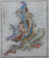Geological Map Of England And Wales : R. I. Murchison / S. D. U. K
