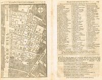 A Plan Of The Late Fire In Cornhill : M. Payne / Gentleman's Magazine