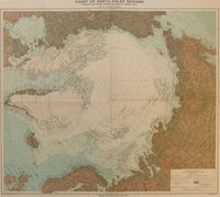 Chart Of North Polar Regions. : J. Bartholomew for Royal Geographical Society