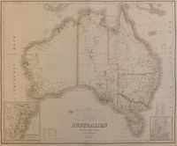 Australien In Mercators Projection : C. F. Weiland
