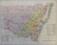 Map Of New South Wales : Department Of Lands