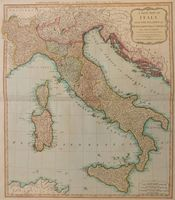 A New Map of Italy, with the Islands of Sicily, Sardinia & Corsica. : R. Laurie & J. Whittle
