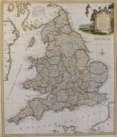 A New Map Of England And Wales, Divided Into Counties : T. Kitchin