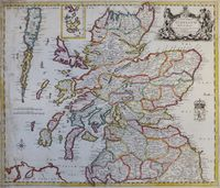 A New Map Of Scotland With The Roads ... : R. Greene / W. Berry