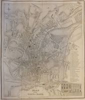 Plan Of The City Of Bath : Meyler and Sons