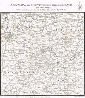 A New Map Of The Country Twelve Miles Round Bath : S. Simms