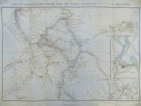 Map Of The Nile Provinces From The Third Cataract (Hannek) To Khartoum : Major W. Fox