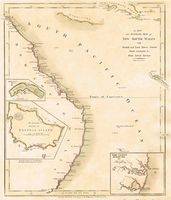 A New And Accurate Map Of New South Wales : R. Wilkinson