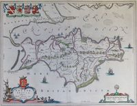 Vectis Insula.  Anglice The Isle Of Wight : J. Blaeu