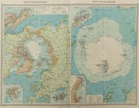 North Polar Regions. / South Polar Regions. : G. Philip / London Geographical Institute
