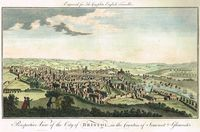 Perspective View Of The City Of Bristol : A. Hogg