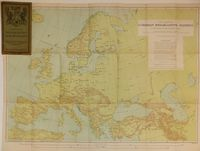 World - Radio Broadcasting Map Of Europe : Malby & Sons