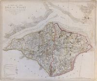 A Map Of The Isle Of Wight : J. Haywood