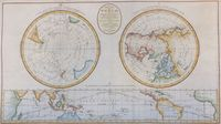 A New Map Of The World, In Three Sections : J. Bayly