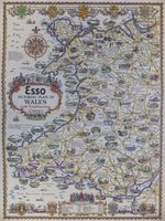 Esso Pictorial Plan Of Wales With Neighbouring Counties : A. E. Taylor