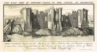 The East View of Newport Castle, In The County Of Monmouth : S. & N. Buck
