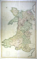 A Two Sheet Map Of The Principality Of Wales
