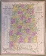 A New Map Of Alabama With Its Roads And Distances ...