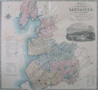Map Of The County Palatine Of Lancaster