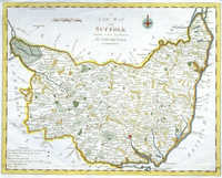 A New Map Of Suffolk From The Latest Authorities