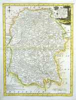 A Modern Map Of Wiltshire, Drawn From The Latest Surveys; Corrected & Improved B