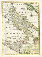 A New & Accurate Map Of The Kingdoms Of Naples & Sicily. Drawn From The Most Approv'd Foreign Maps & Charts, And Regulated By Astron. Observations