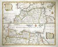 A New & Accurate Map Of The Western Parts Of Barbary, Containing Fez, Morocco, Algiers, Tunis & Biledulgerid.  Drawn From The Best Authorities & Regulated By Astronomical Observations.  A New & Accurate Map Of The Eastern Parts Of Barbary, Containing Tripoli, Barca, Faisan And The Northern Parts Of Egypt, With The Adjacent Countries.  Drawn From The Best Authorities & Regulated By Astronomical Observations.