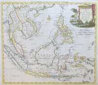 A Map Of The East India Islands, Agreeable To The Most Approved Maps And Charts