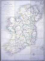A Map Of Ireland Divided Into Provinces And Counties ...