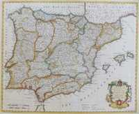 A Map Of The Kingdoms Of Spain And Portugal ...