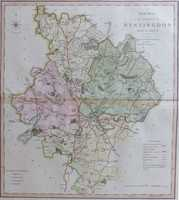 A New Map Of the County of Huntingdon