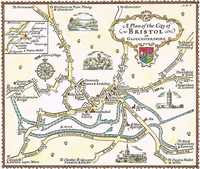 A  Plan Of The City Of Bristol in Gloucestershire
