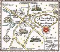 A  Plan Of The City Of Gloucester in Gloucestershire