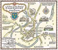 A Plan Of The Town of Shrewsbury in Shropshire