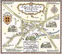 A Plan Of The Town of Warwick in Warwickshire