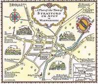 A Plan Of The Town of Stratford on Avon in Warwickshire