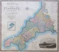 Map Of The County Of Cornwall