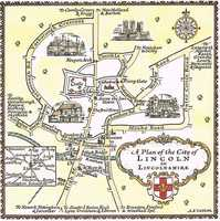 A  Plan Of The City Of Lincoln in Lincolnshire