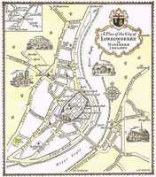 A Plan Of The City of Londonderry in Northern Ireland