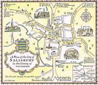 A Plan Of The City of Salisbury in the County of Wiltshire