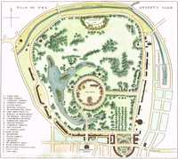 Plan Of The Regent's Park