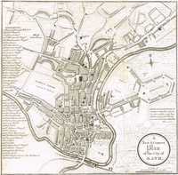 A New & Correct Plan Of The City Of Bath