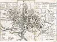 A Plan Of The University And City Of Oxford