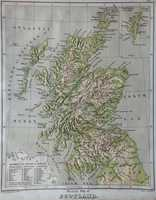 Physical Map Of Scotland / Political Map Of Scotland