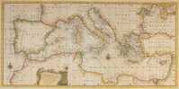 An Accurate Chart Of The Mediterranean And Adriatic Seas; ...