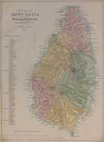 Topographical Map Of Saint Lucia
