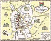 A Plan Of The Town of Cambridge showing the Colleges