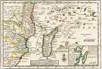 The South East part of Africa. Containing Zanguebar, Sofala, Sabia, The Island Madagascar & c.